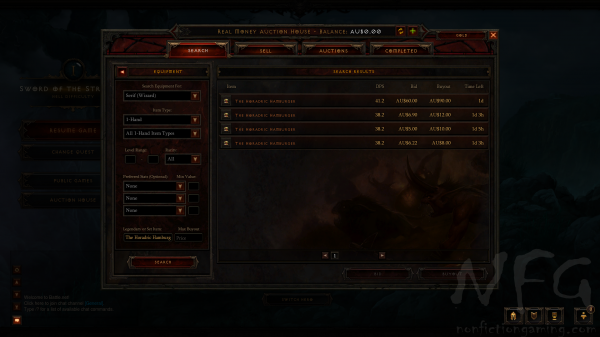 Diablo 3 Real Money Auction