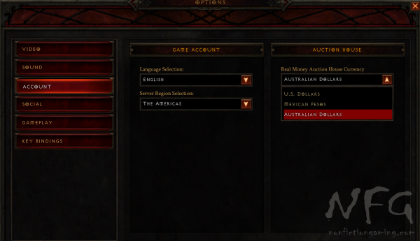 Diablo Currency Options