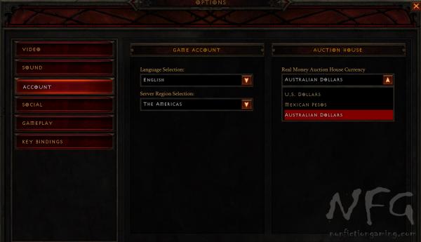 Diablo Currency Options