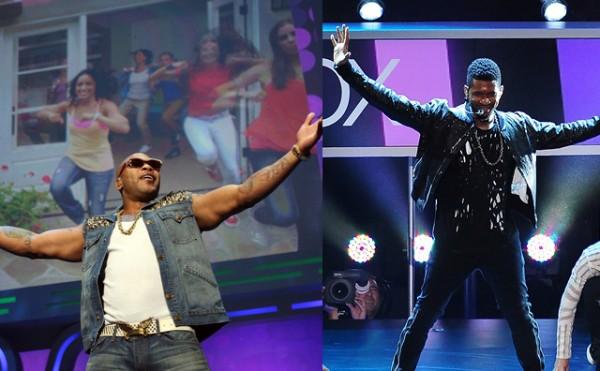 Flo Rida Usher E3 performance