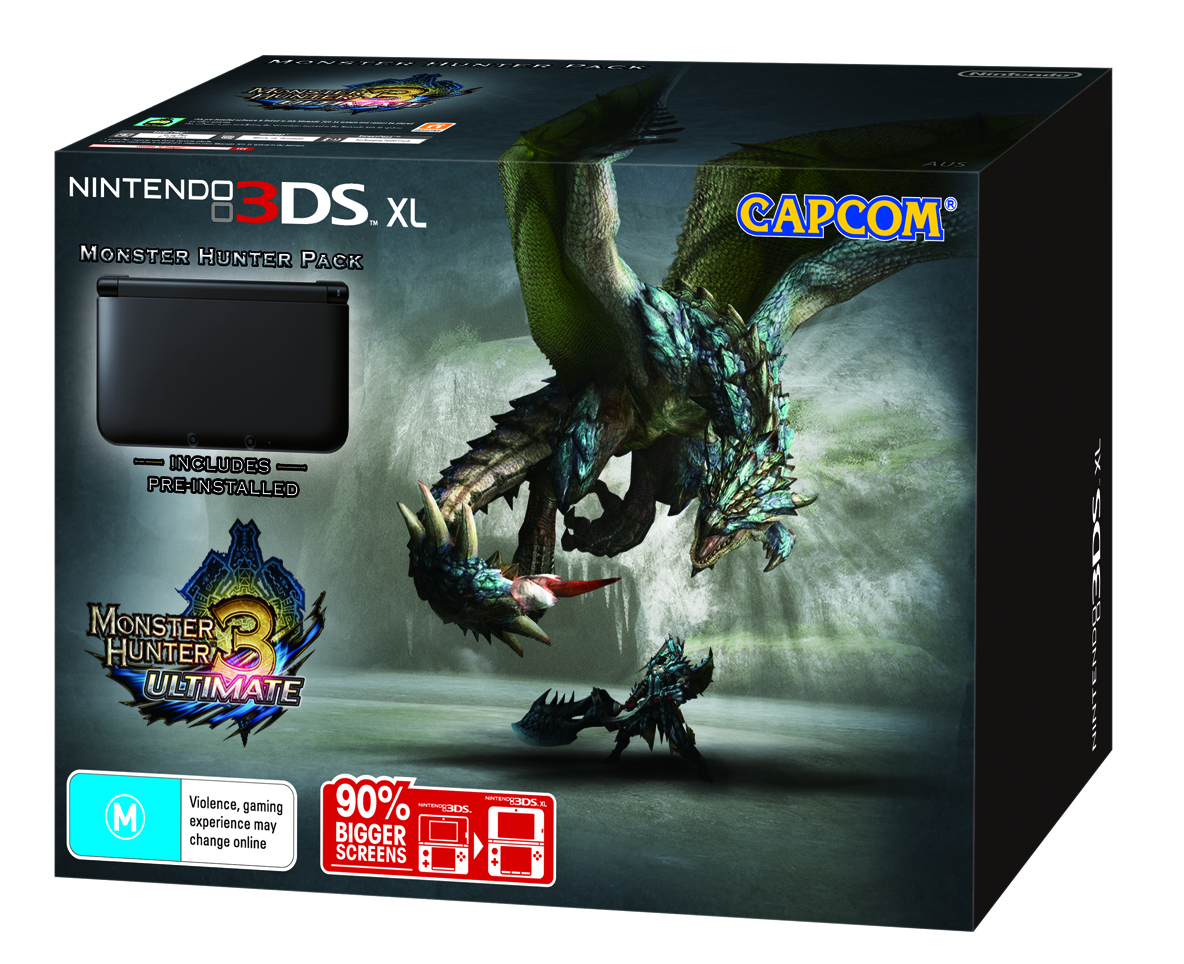 Nintendo 3DS XL MH3U Bundle