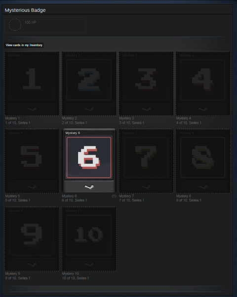 Steam mysterious badge