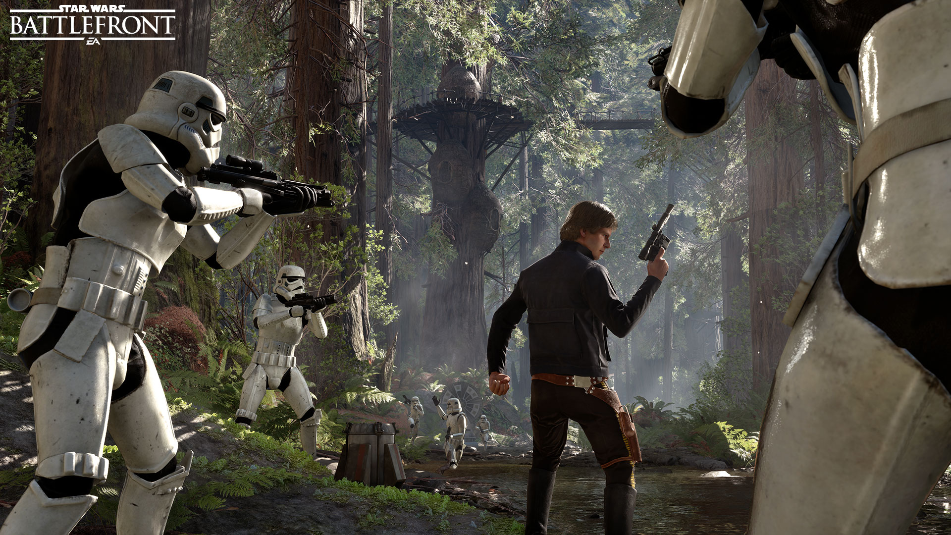 Han Solo Pose Battlefront