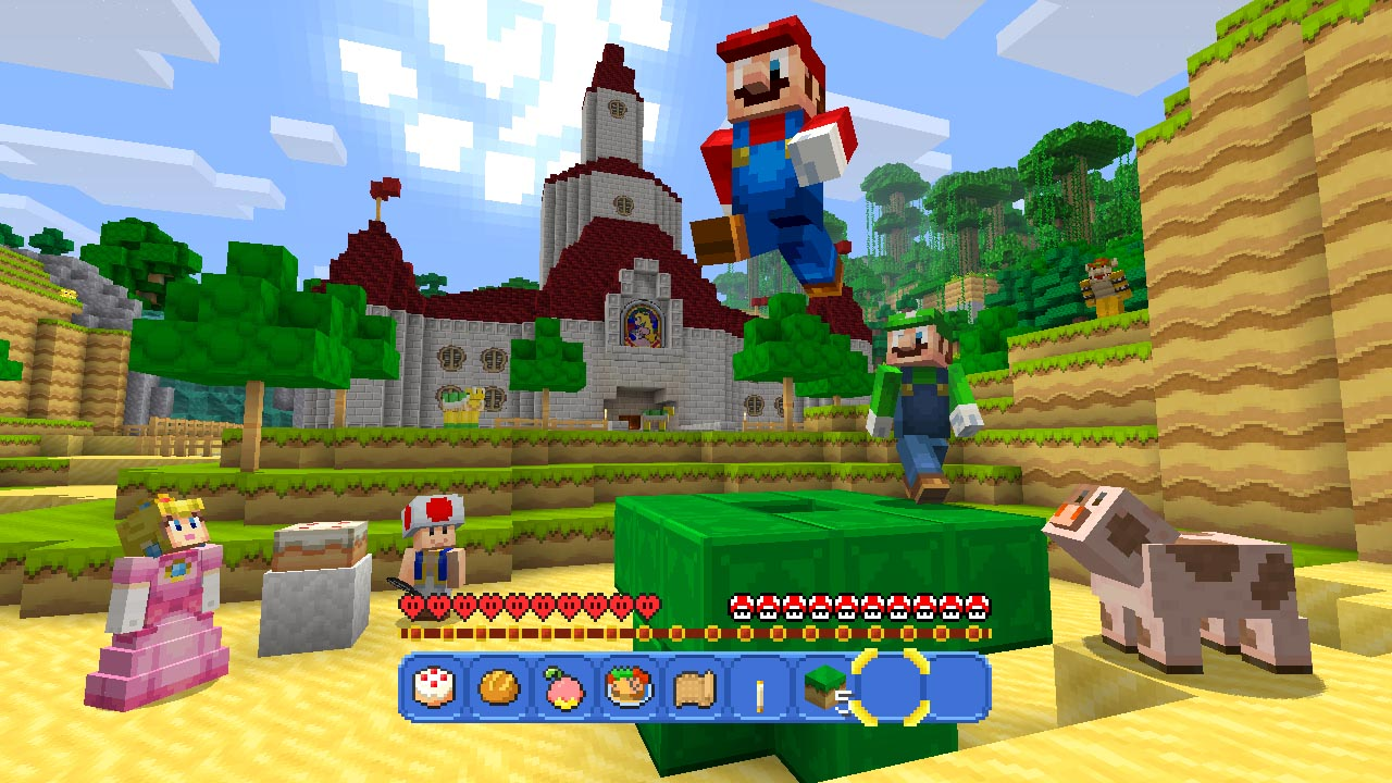 Minecraft: Wii U edition super mario level