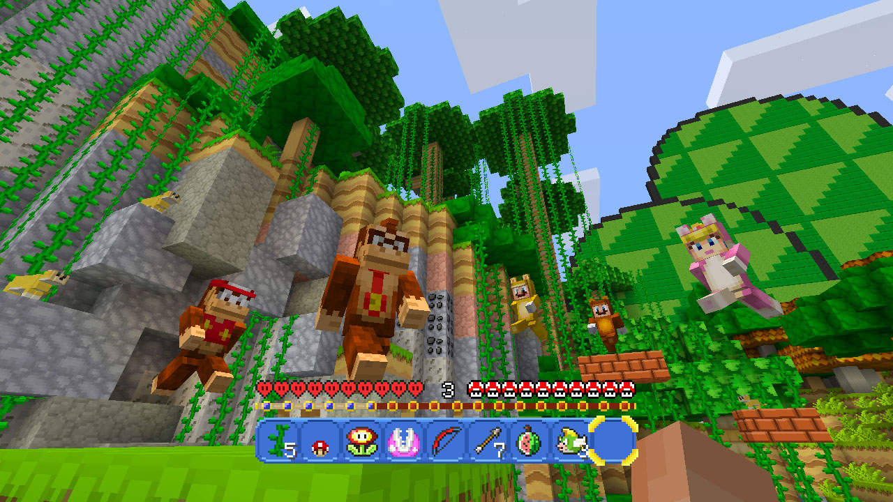 Minecraft: Wii U Edition Super Mario Donkey Diddy Kong