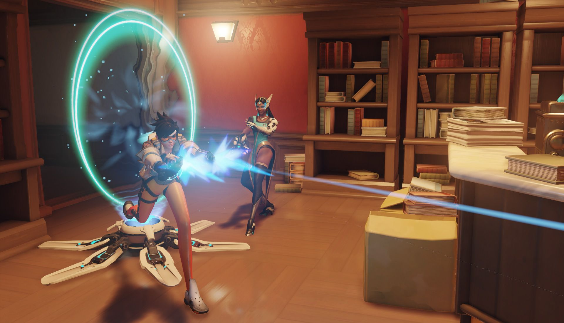 Symmetra's Teleporter allows for constant assaults straight from the spawn.