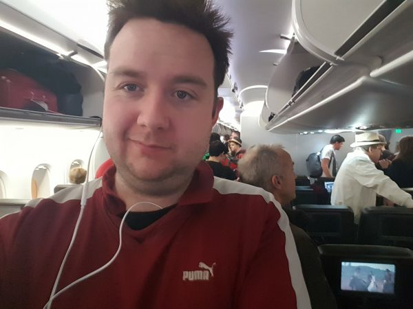 Listening to Audiobooks on a Plane