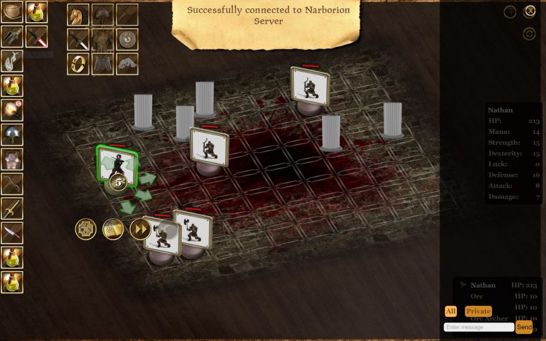 Narborion Saga combat