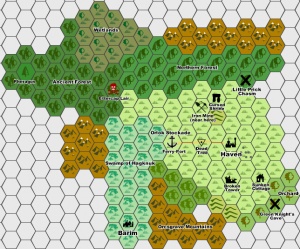 West Marches Hex Map