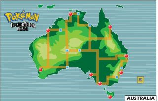 Pokemon Australia Map