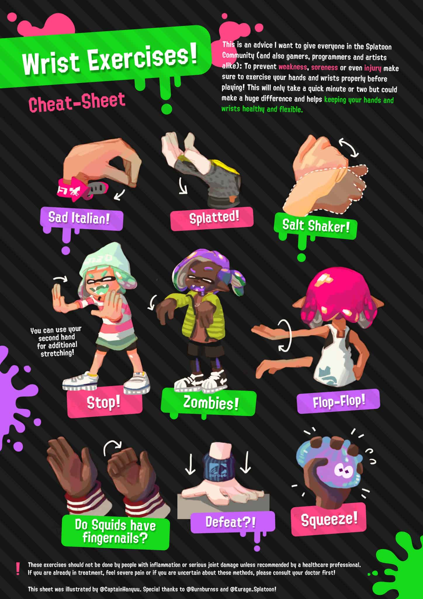 Splatoon wrist exercises