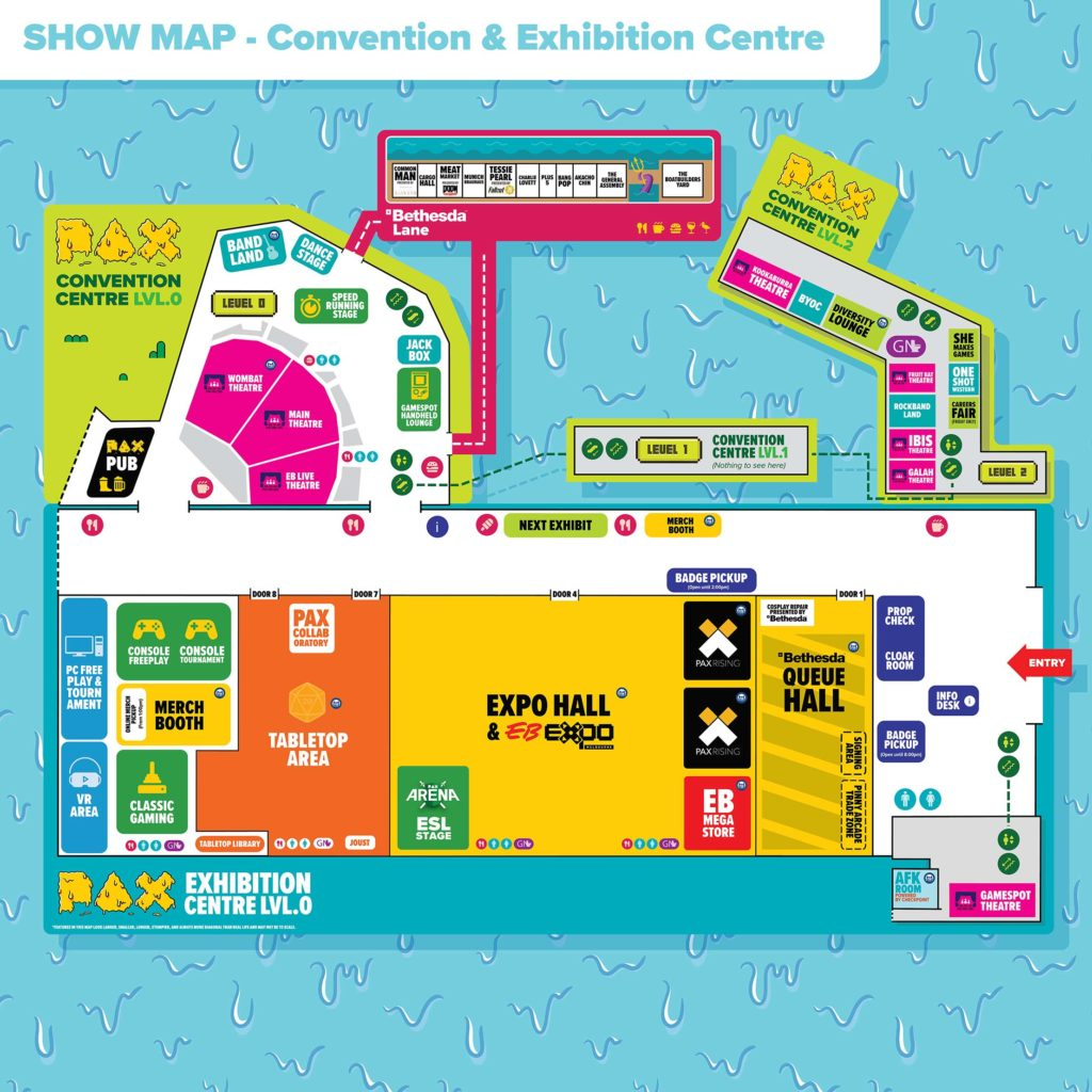 Map of PAX AUS 2019 Expo