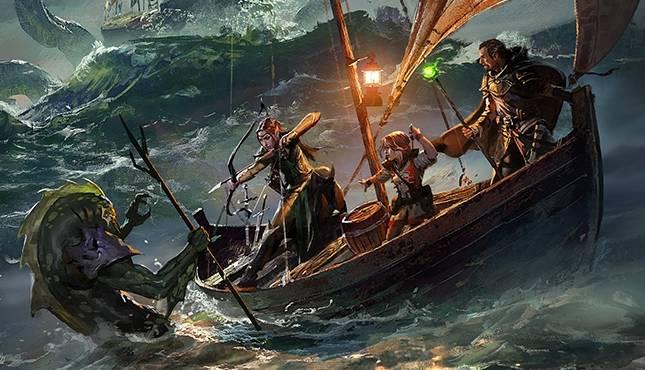 DND Warlock on a Boat