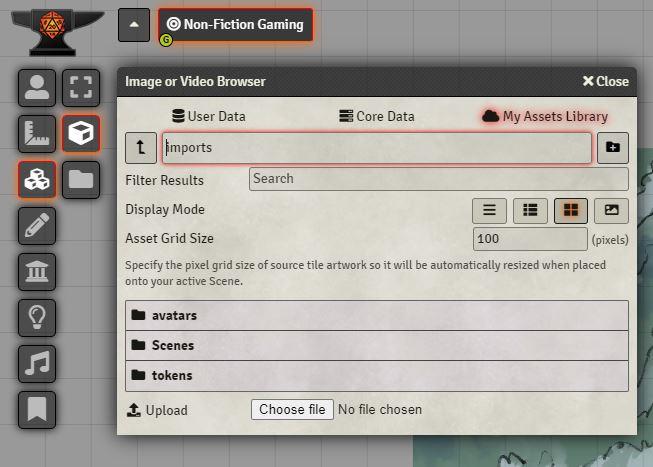Foundry VTT Tile Browser
